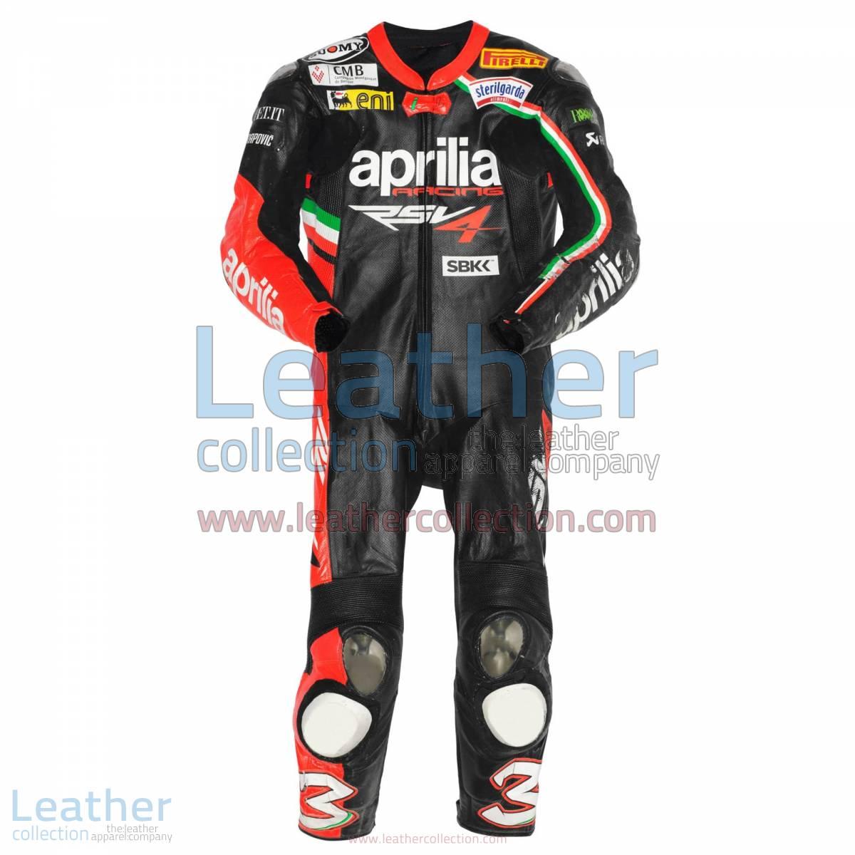 Max Biaggi Aprilia 2012 Race Leathers | aprilia race leathers