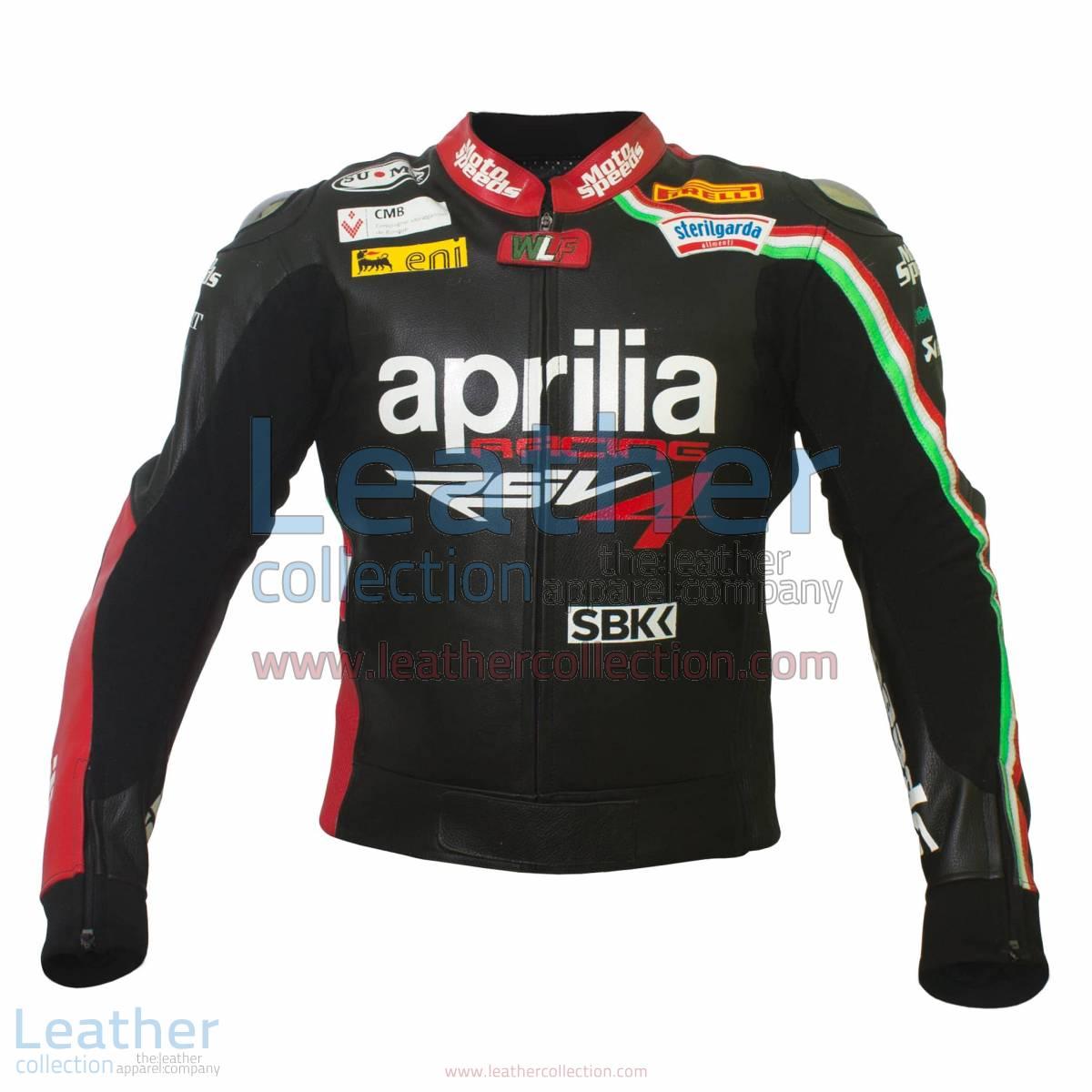Max Biaggi Aprilia Motorbike Leather Jacket | Aprilia jacket