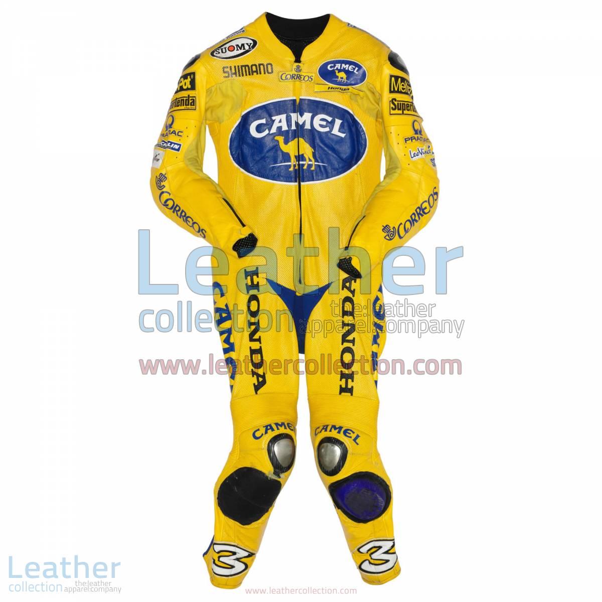 Max Biaggi Camel Honda MotoGP 2004 Leathers | honda leathers