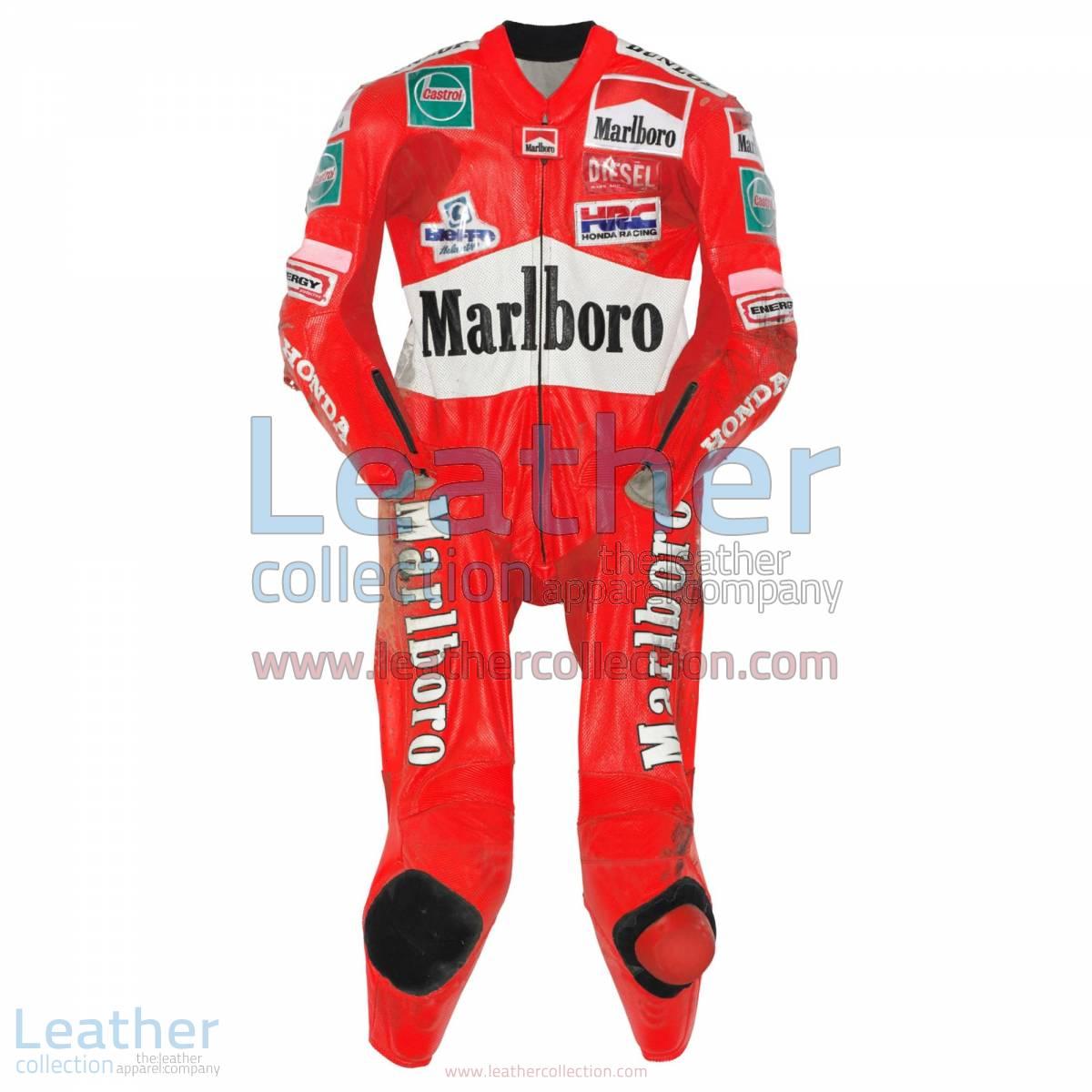Max Biaggi Honda GP 1997 Racing Leathers   honda leathers