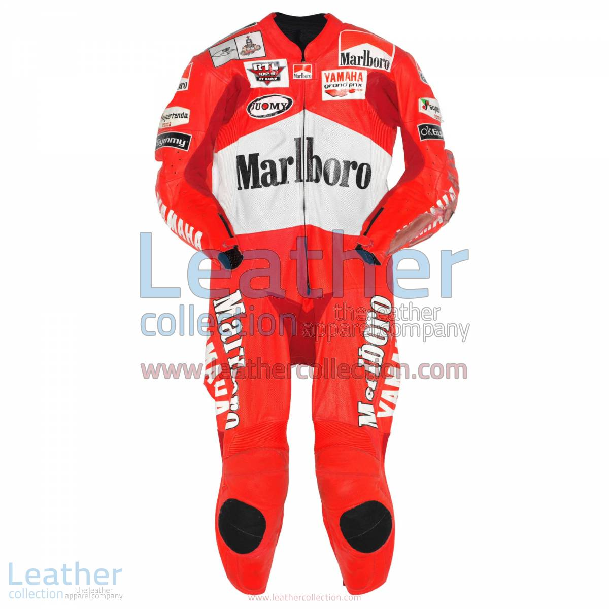 Max Biaggi Marlboro Yamaha GP 2001 Leathers | yamaha leathers