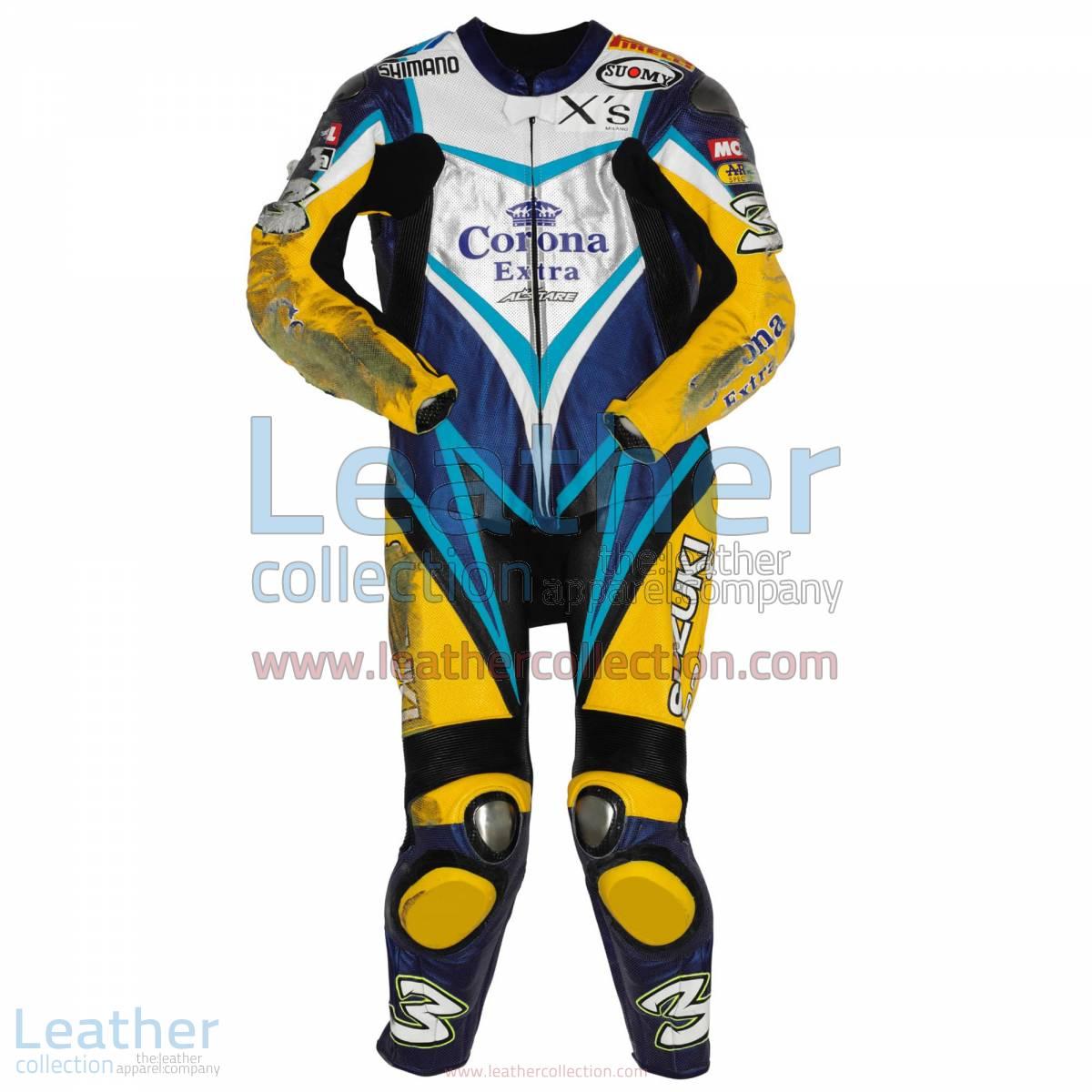 Max Biaggi Suzuki WSBK 2007 Leathers | suzuki leathers