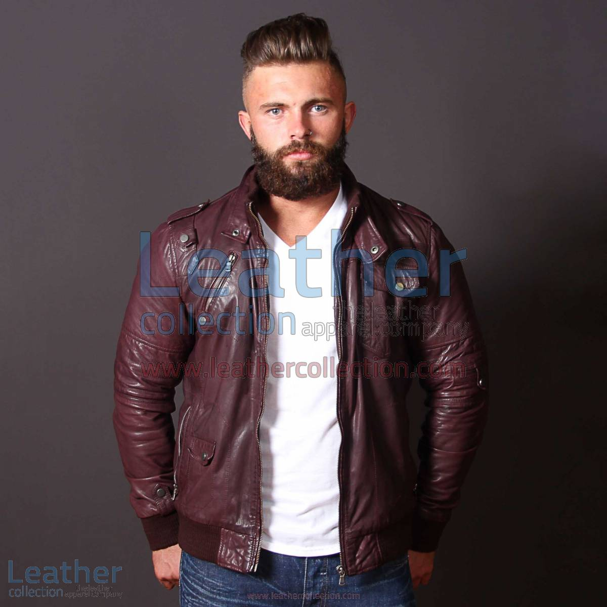 Men Boston Leather Bomber Jacket | leather bomber jacket