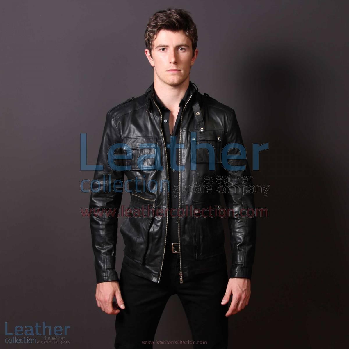 Men Leather Fashion Rockwell Jacket | rockwell jacket