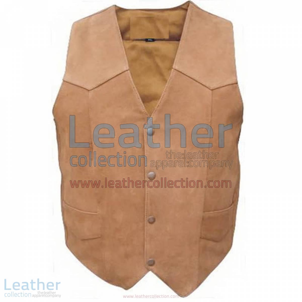 Men's Gun Pocket Leather Vest | gun pocket vest