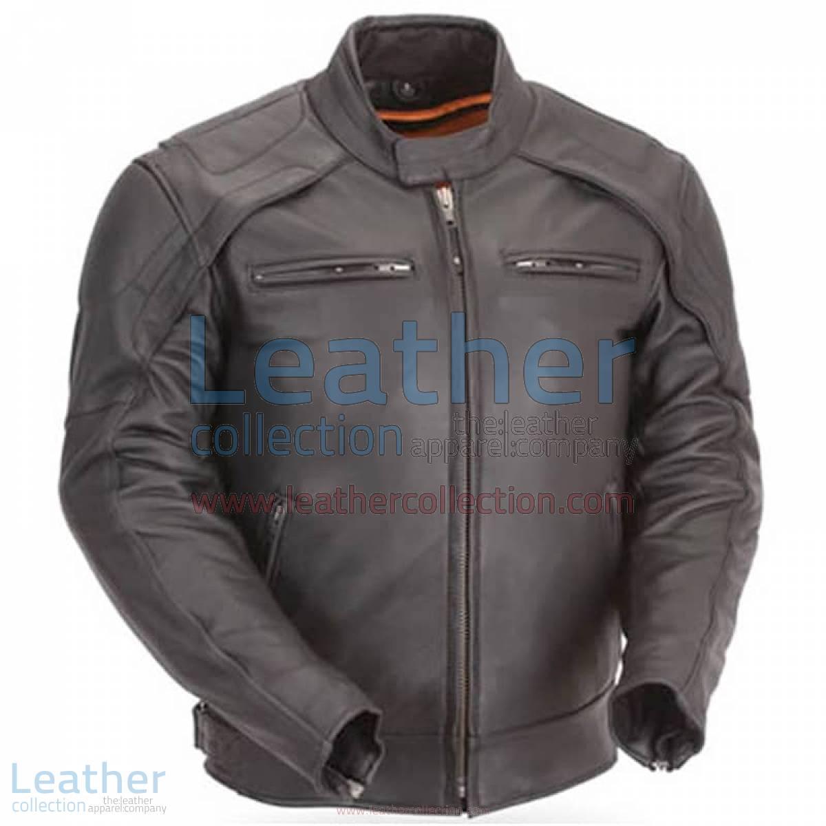 Motorcycle Reflective Piping & Vented Jacket | piping jacket