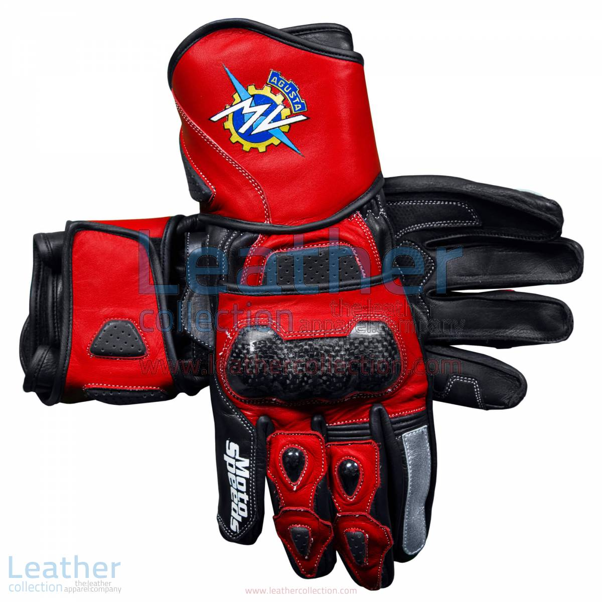 MV Agusta 2017 Leather Motorcycle Gloves | MV Agusta 2017 Leather Motorcycle Gloves