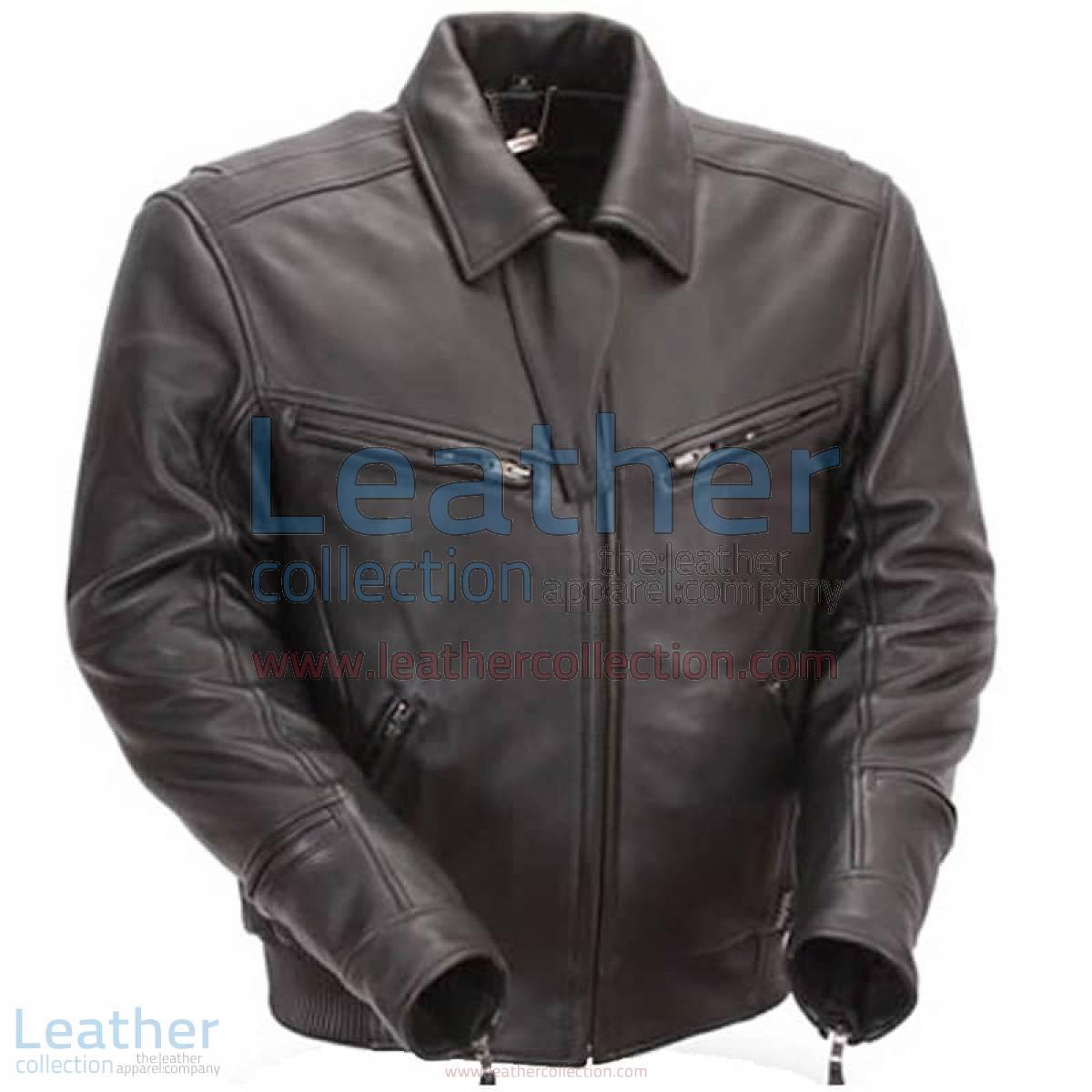 Naked Black Leather Bronson Hybrid Motorcycle Jacket | naked leather jacket