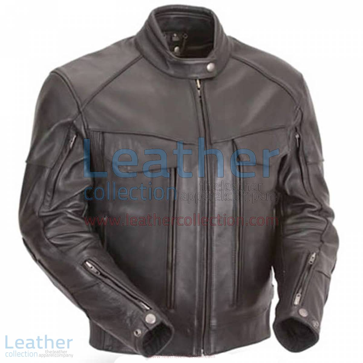Naked Leather Riding Jacket with Gun Pockets & Side Stretch Panels | leather riding jacket