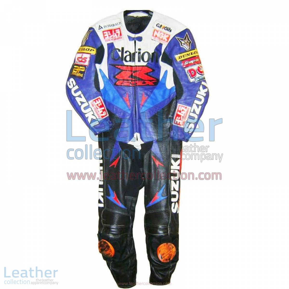Niall Mackenzie Suzuki 2001 BSB Leather Suit   suzuki leather suit