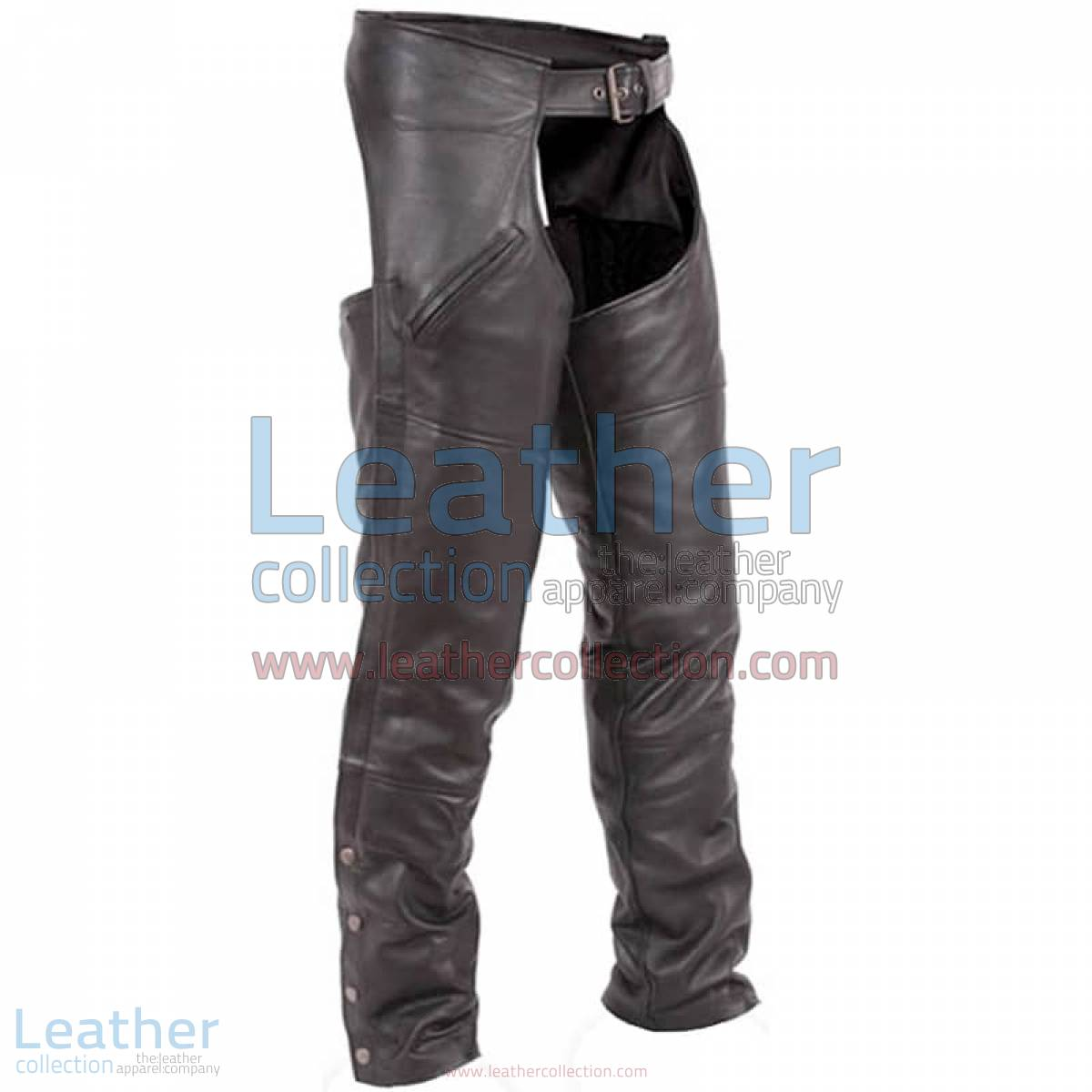 Premium Black Leather Motorbike Chaps | Premium Black Leather motorcycle Chaps