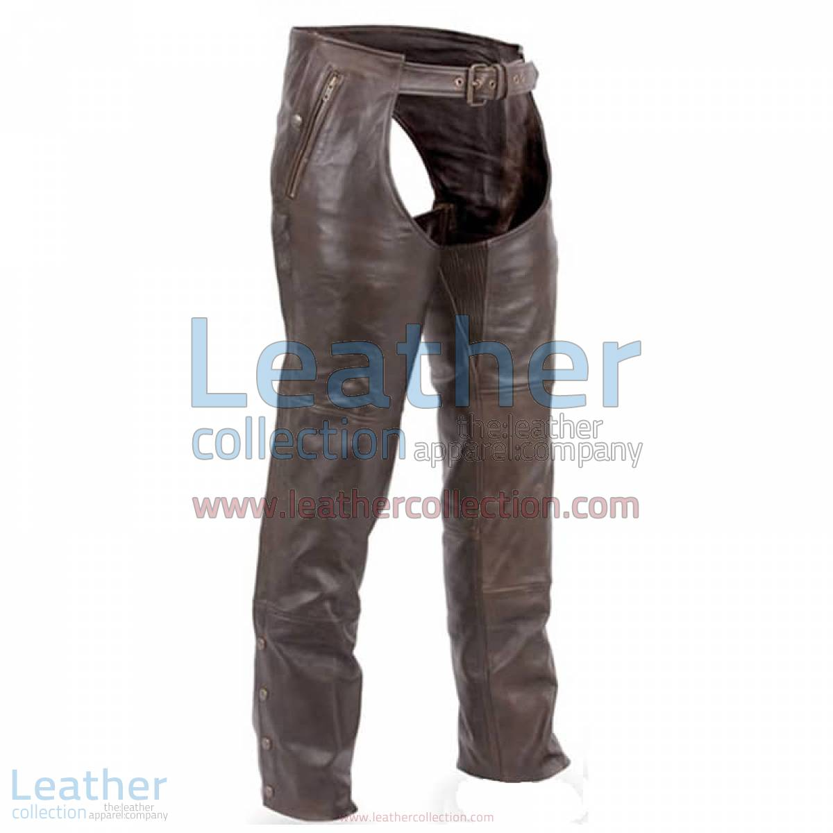 Premium Brown Leather Motorcycle Chaps | leather motorcycle chaps