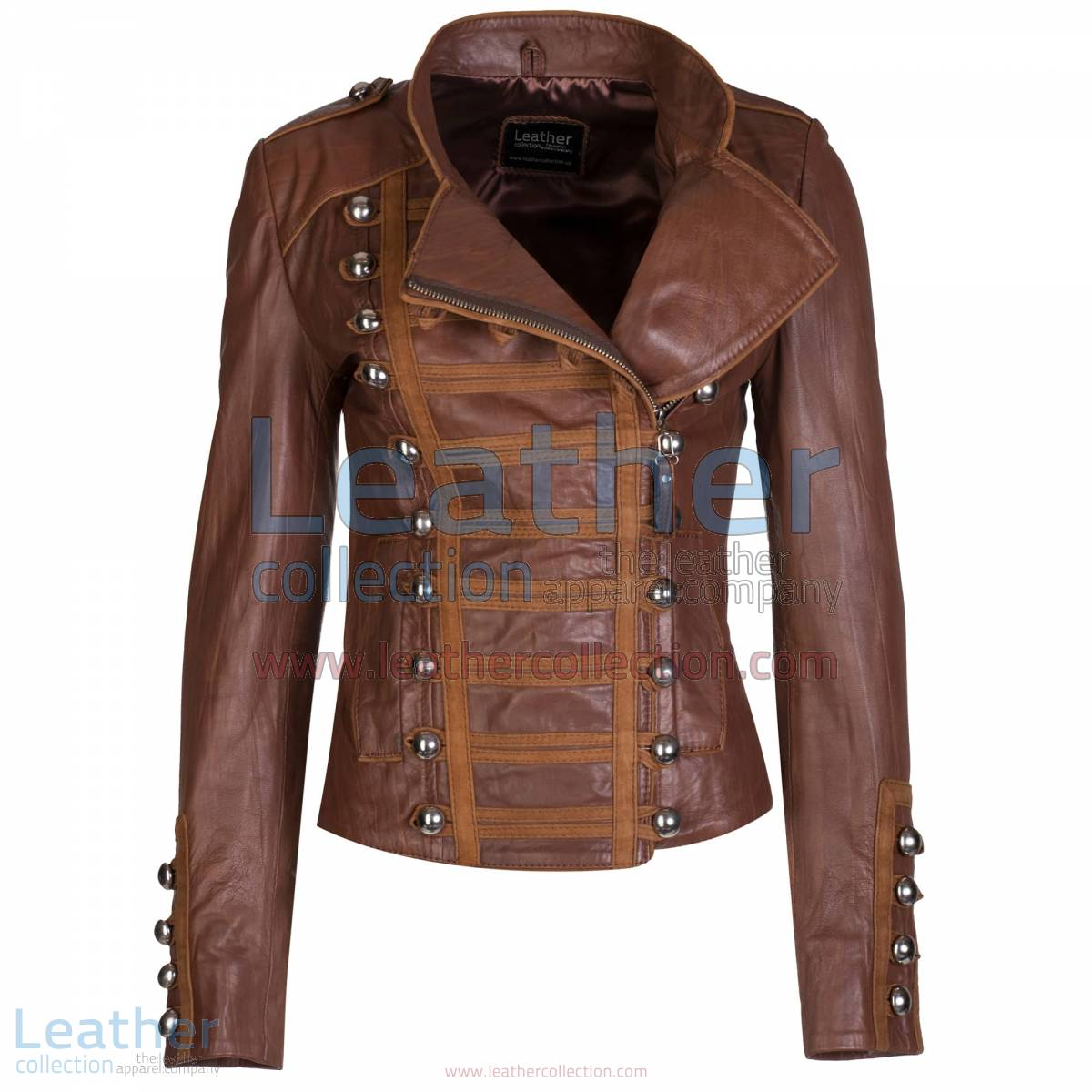 Princess Antique Brown Leather Jacket | princess jacket