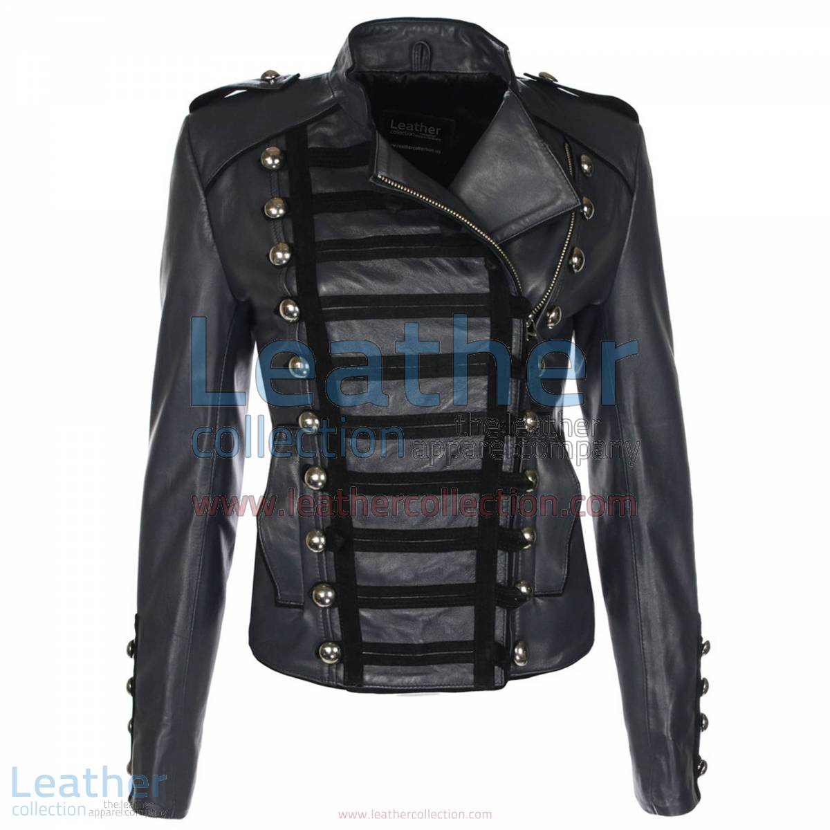 Princess Charcoal Leather Jacket   princess jacket