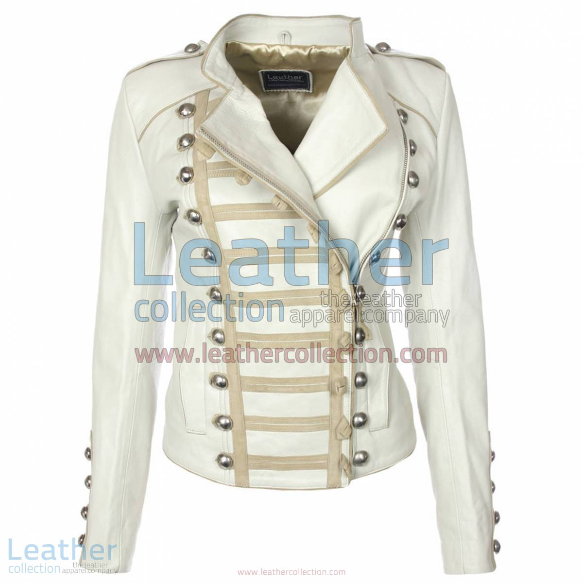 Princess Leather Jacket White   princess jacket