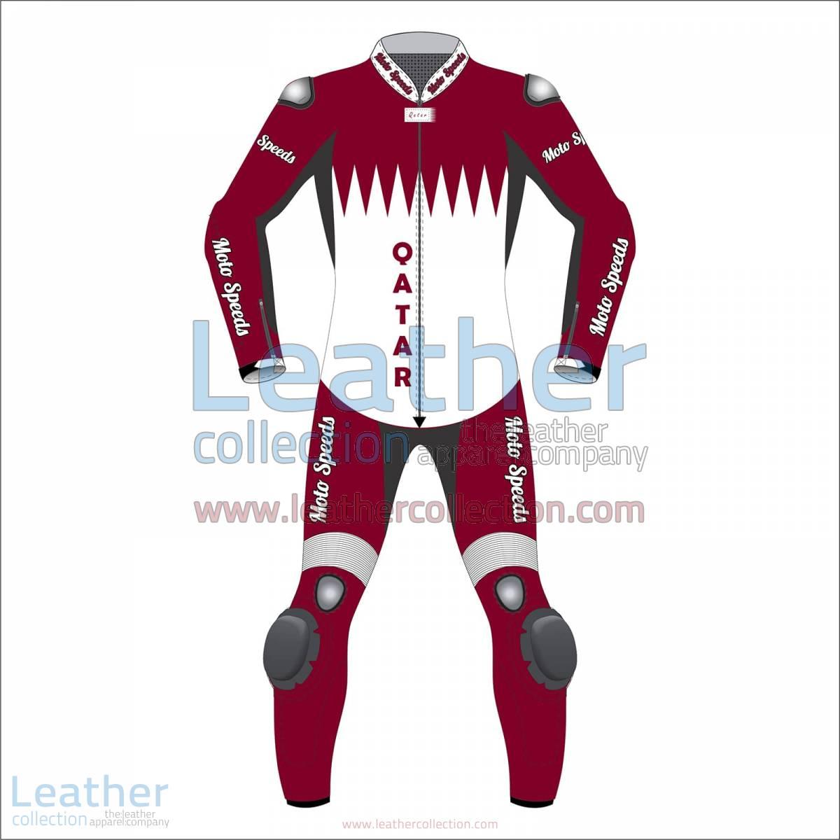 Qatar Flag Motorbike Race Suit | motorcycle race suit