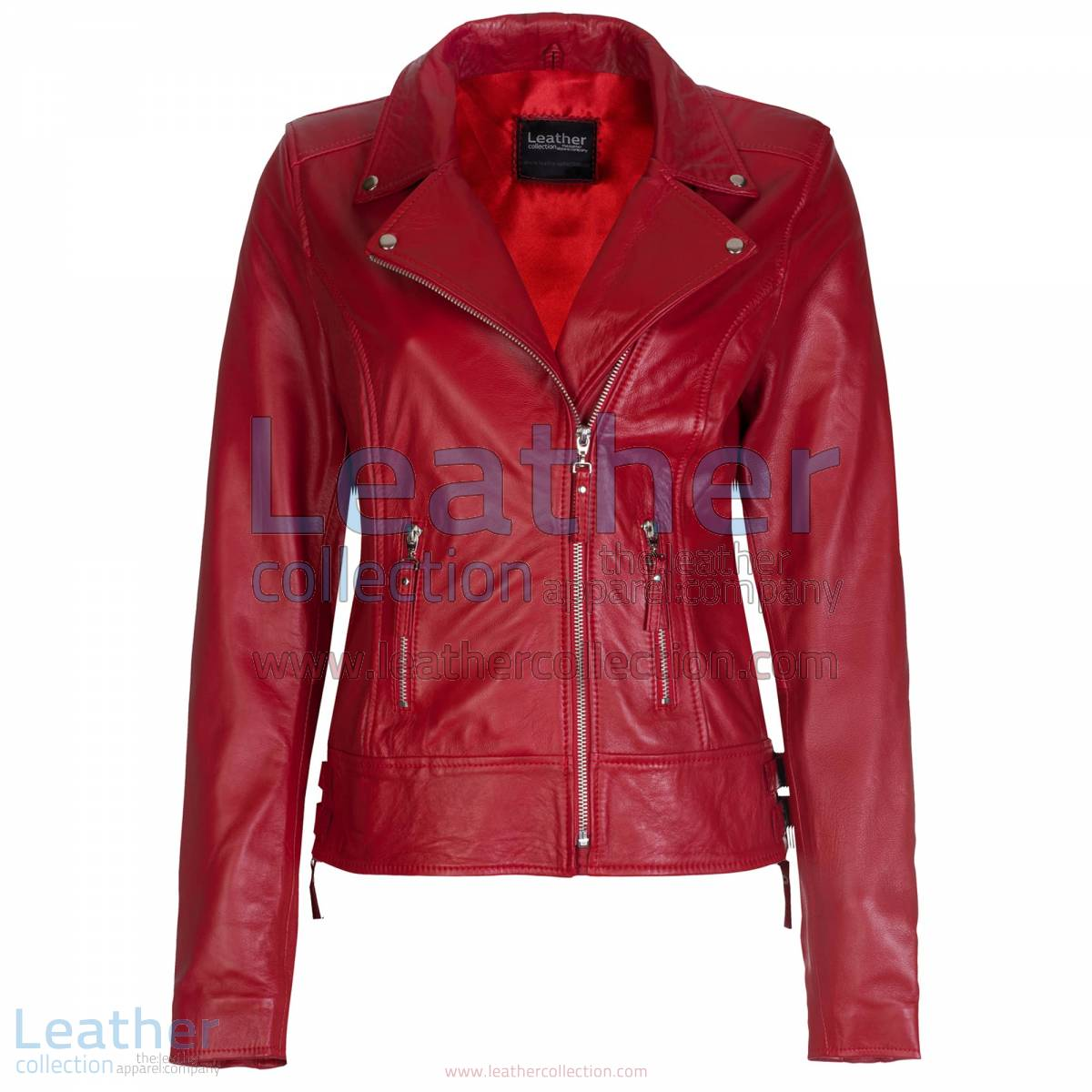 Red Vintage Biker Leather Jacket | vintage biker jacket