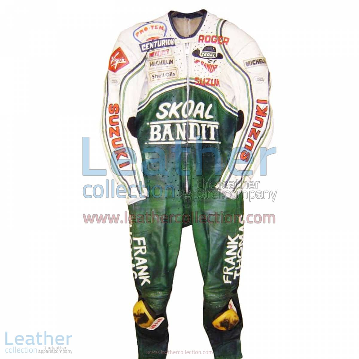Roger Marshall Suzuki GP 1987 Leather Suit   suzuki leather suit
