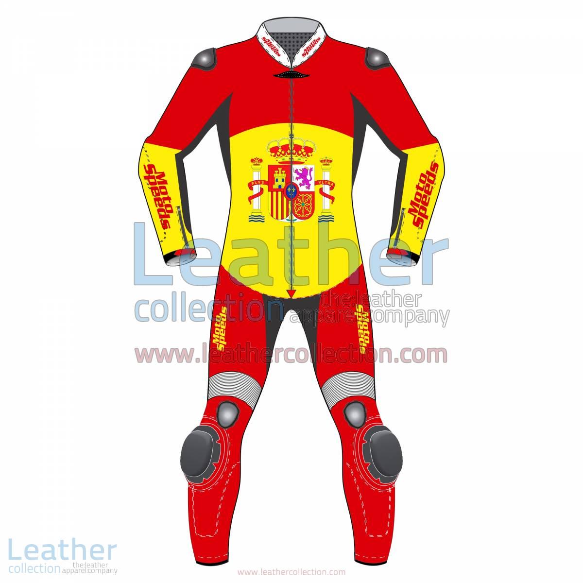 Spain Rounded Flag Race Suit | race suit
