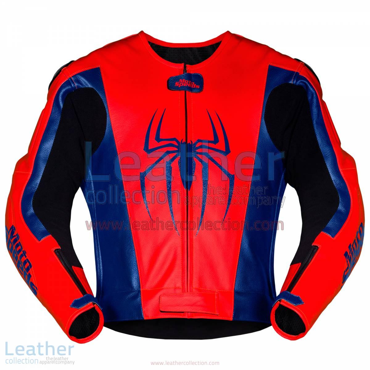Spiderman Leather Motorcycle Jacket   Spiderman Leather Motorcycle Jacket
