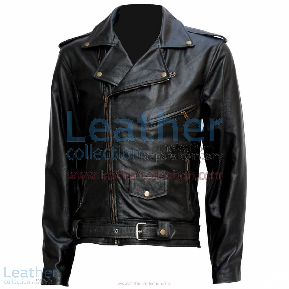 "Terminator "" Arnold "" Biker Leather Jacket 