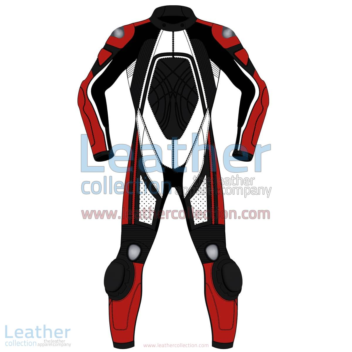 Tri Color One-Piece Motorbike Leather Suit For Men | Tri Color One-Piece motorcycle Leather Suit For Men
