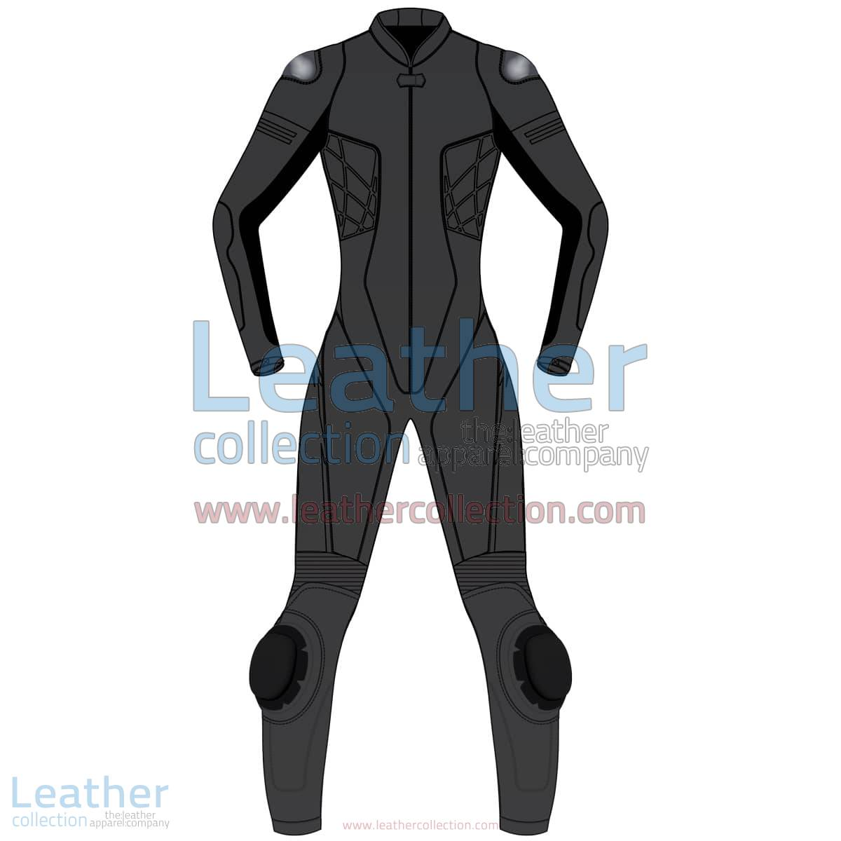 Uni Color One-Piece Motorbike Leather Suit For Women | Uni Color One-Piece motorcycle Leather Suit For Women