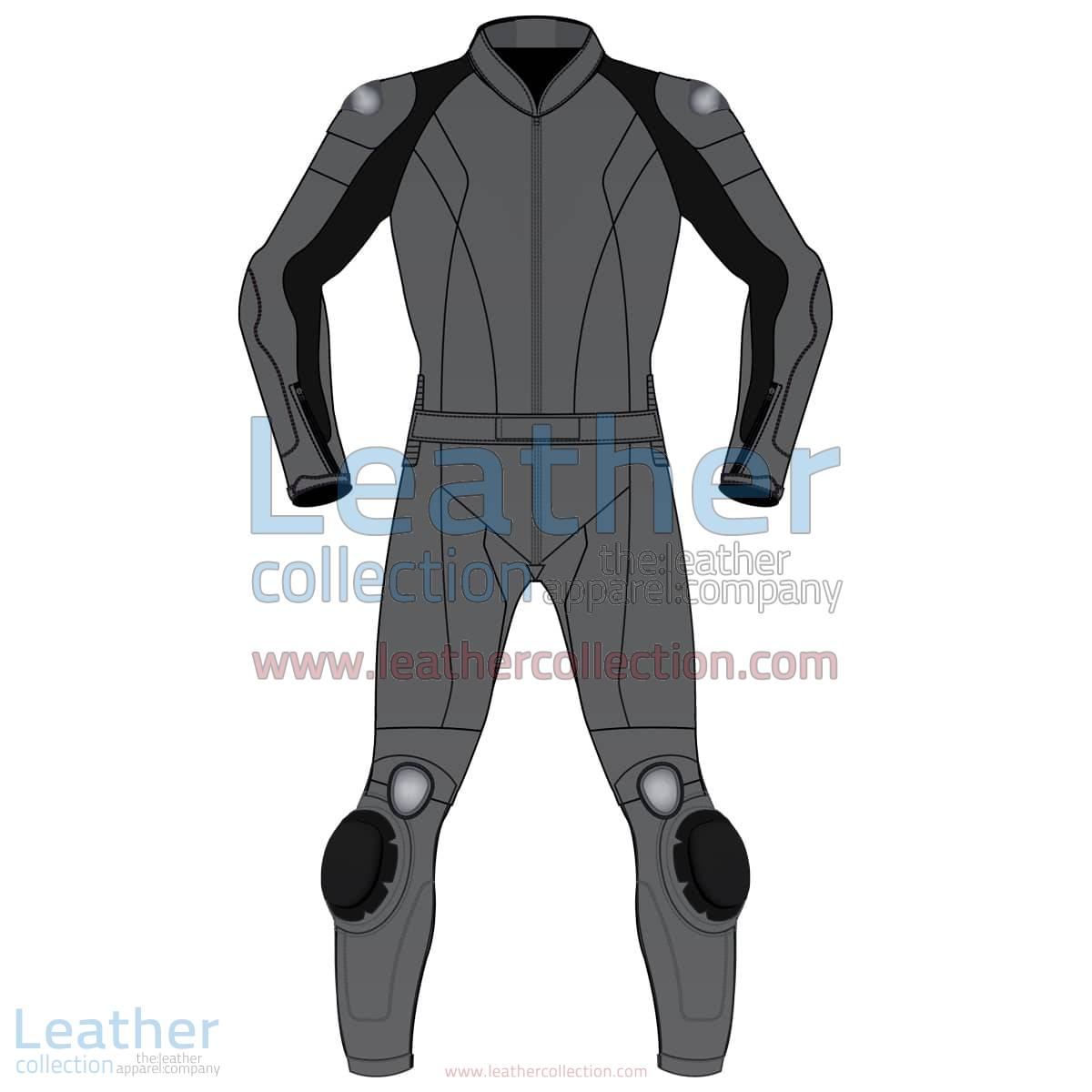 Uni Color Two-Piece Motorbike Leather Suit For Men | Uni Color Two-Piece motorcycle Leather Suit For Men