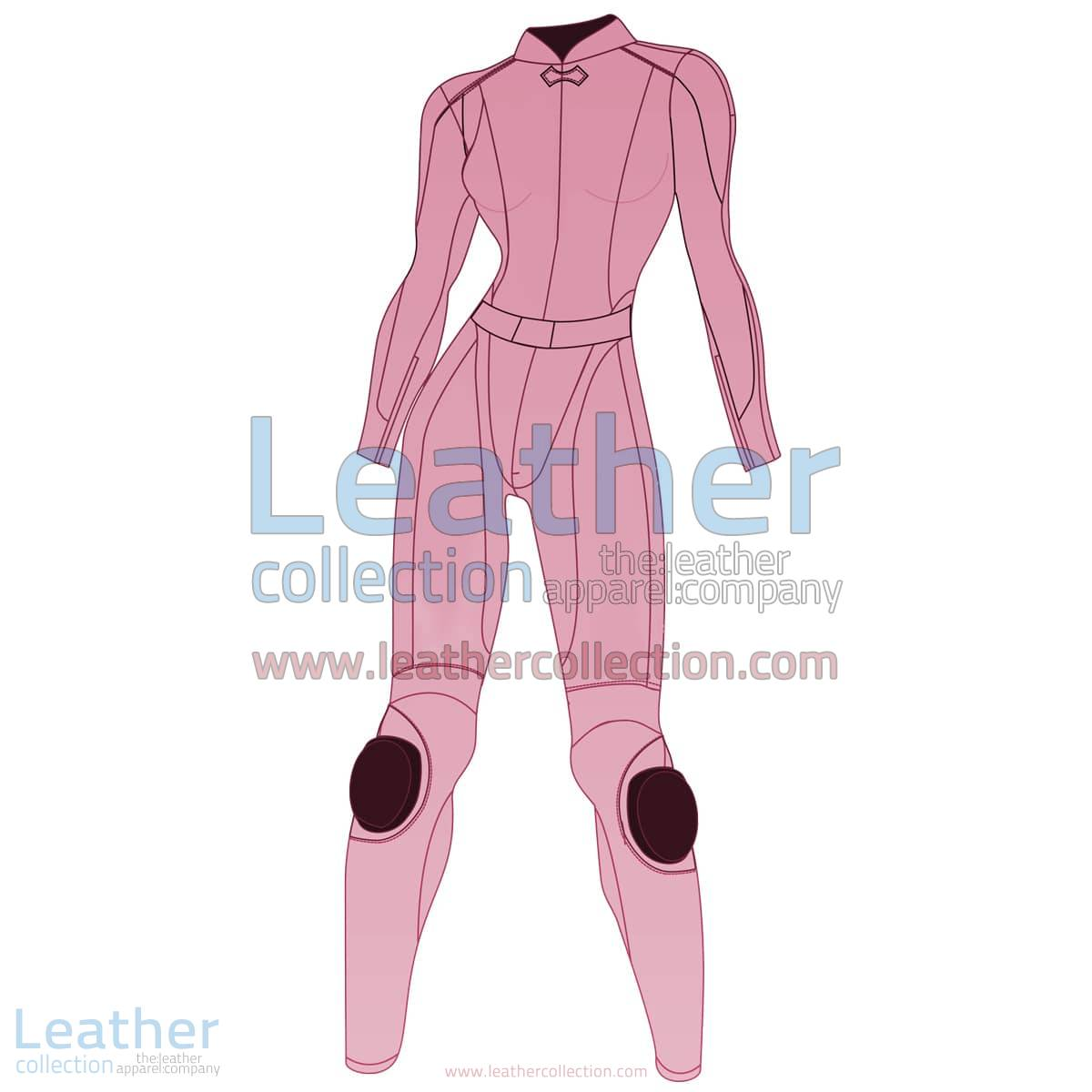 Uni Color Two-Piece Motorbike Leather Suit For Women | Uni Color Two-Piece motorcycle Leather Suit For Women