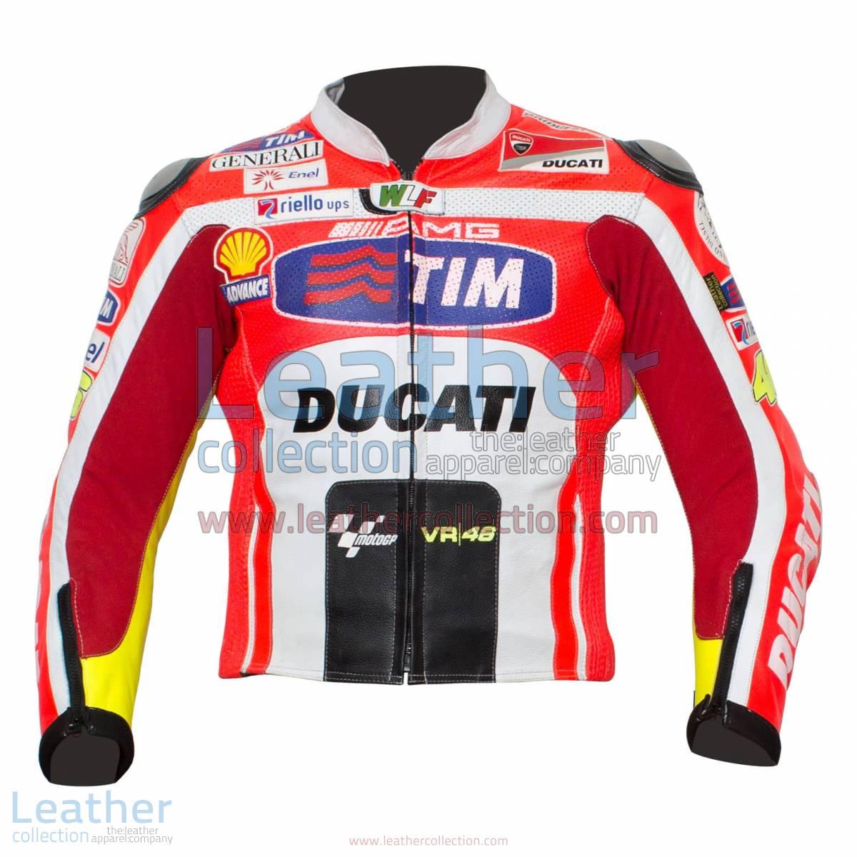 Valentino Rossi Ducati 2011 Leather Jacket | Valentino rossi jacket