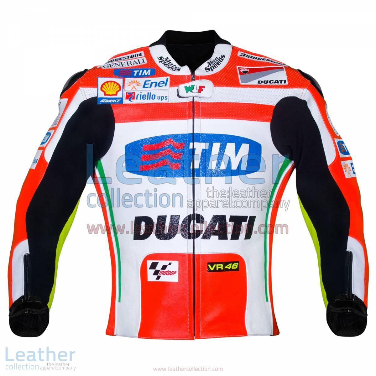 Valentino Rossi Ducati Corse Leather Jacket | Valentino Rossi jacket