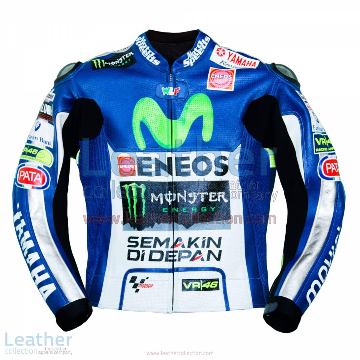 Valentino Rossi Movistar Yamaha 2015 MotoGP Leather Jacket | Valentino Rossi Movistar Yamaha 2015 MotoGP Leather Jacket
