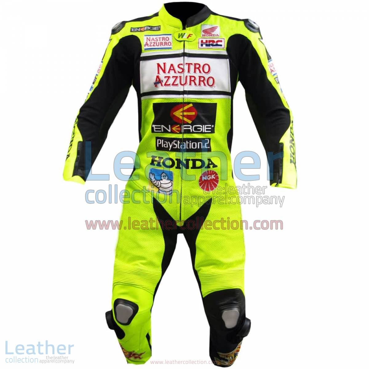 Valentino Rossi Nastro Azzurro Honda MotoGP Leathers   valentino rossi leathers