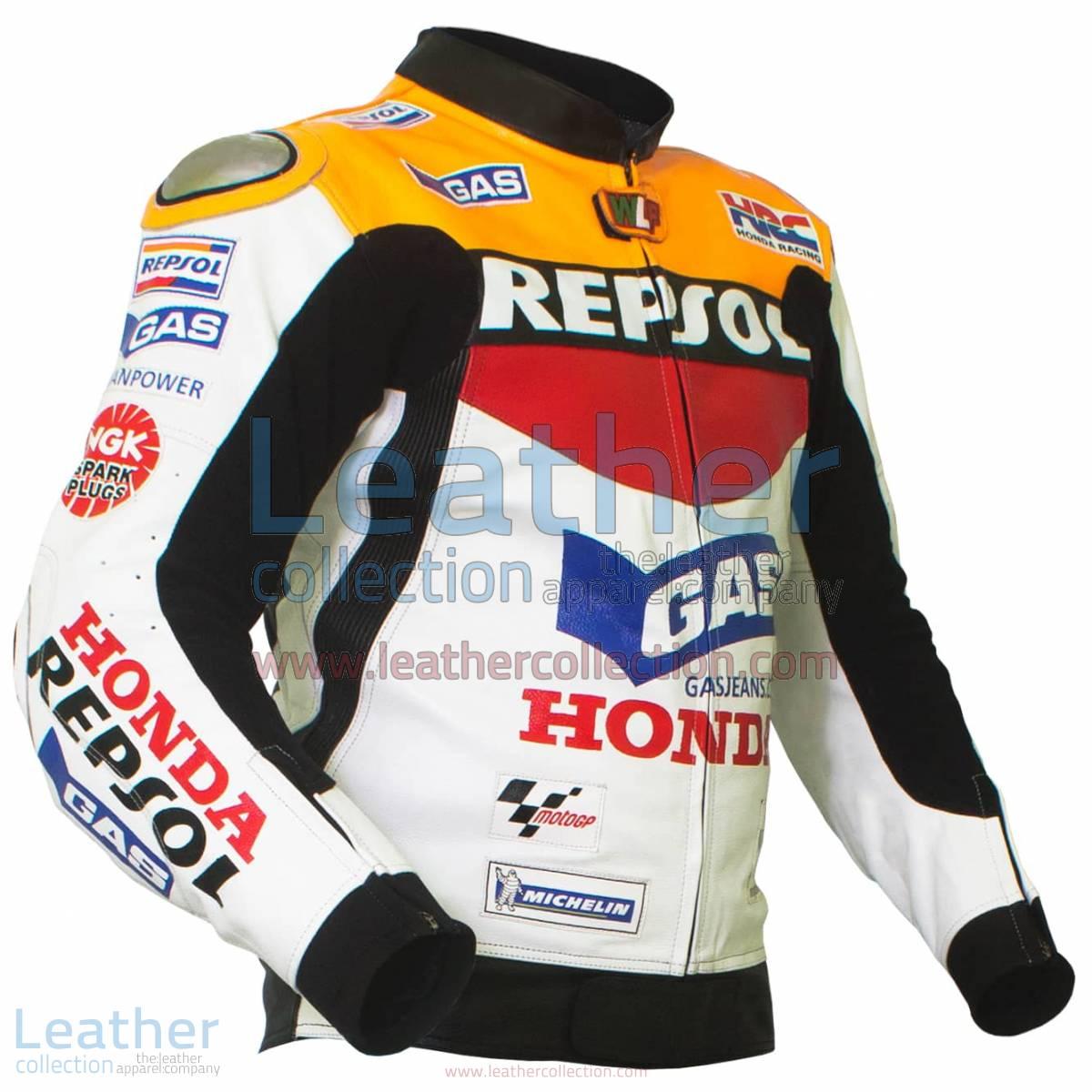 Valentino Rossi Repsol Honda MotoGP 2003 Leather Jacket | repsol jacket