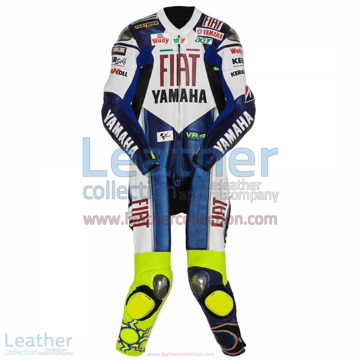 Valentino Rossi Yamaha Fiat MotoGP 2008 Racing Suit | valentino rossi racing suit