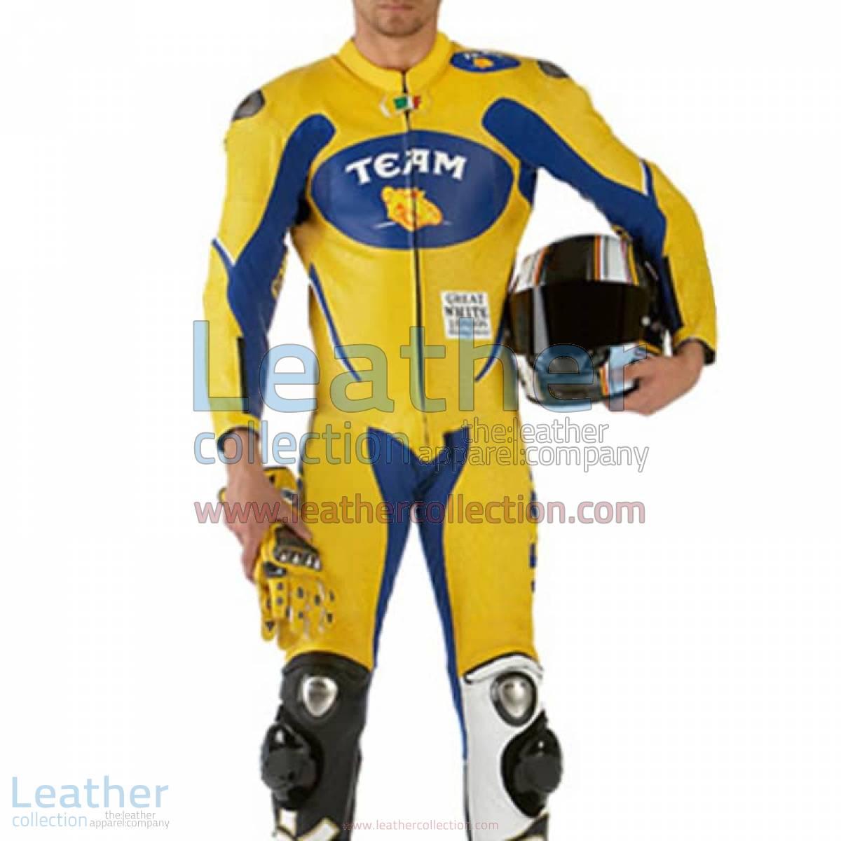VR46 Team Motorcycle Racing Leather Suit | motorcycle racing suit