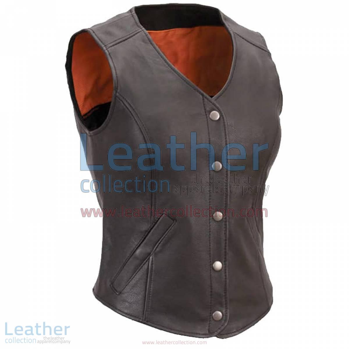 Women Leather Motorcycle Vest | women motorcycle vest