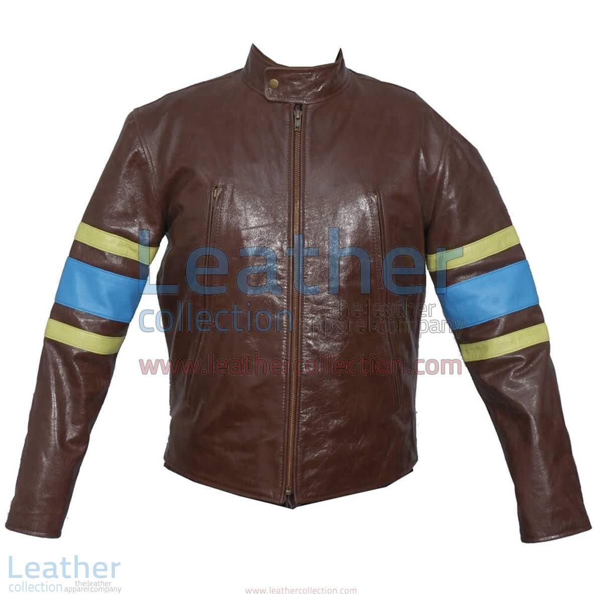 X-MEN Wolverine Origins Biker Leather Jacket   wolverine jacket