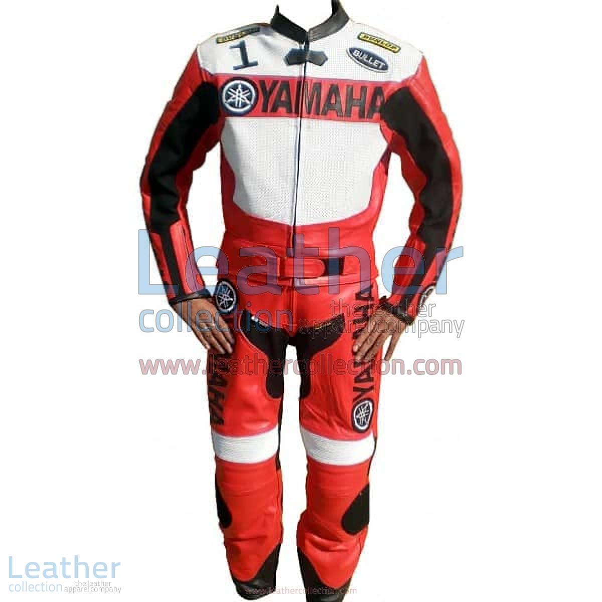 Yamaha Motorbike Leather Suit Red / White | yamaha leather suit