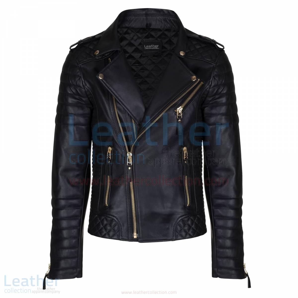 mens blacke moto jacket