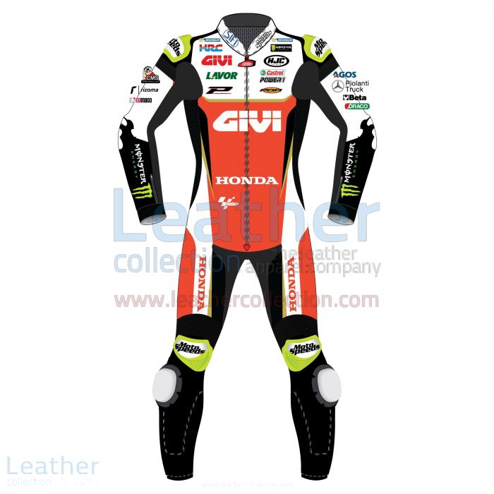 Cal Crutchlow LCR Honda 2019 MotoGP Leather Suit front view