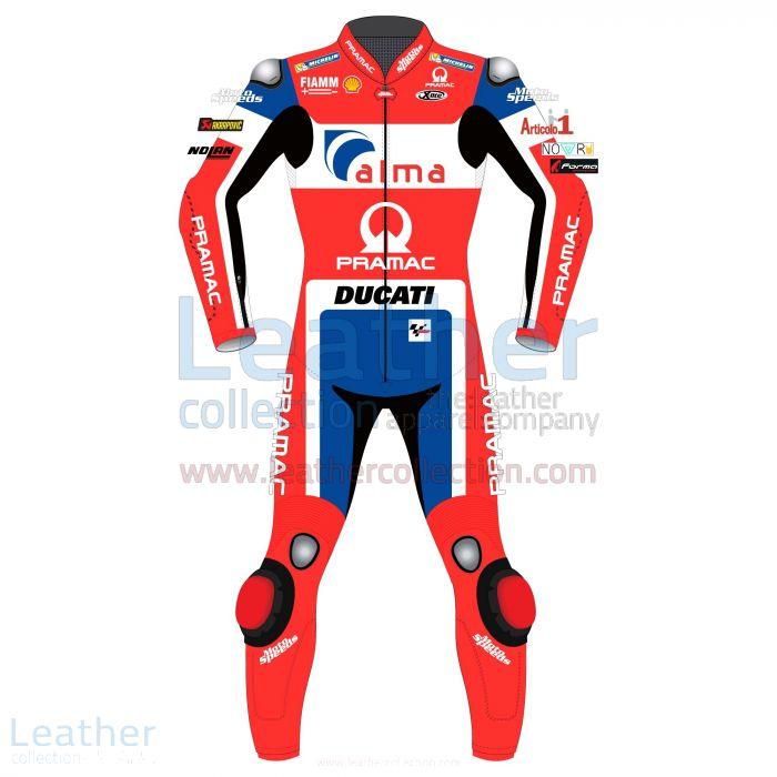 Danilo Petrucci Ducati Traje Cuero MotoGP 2018 Vista Frontal