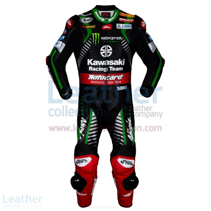 Jonathan Rea Kawasaki WSBK 2018 Leather Suit front view