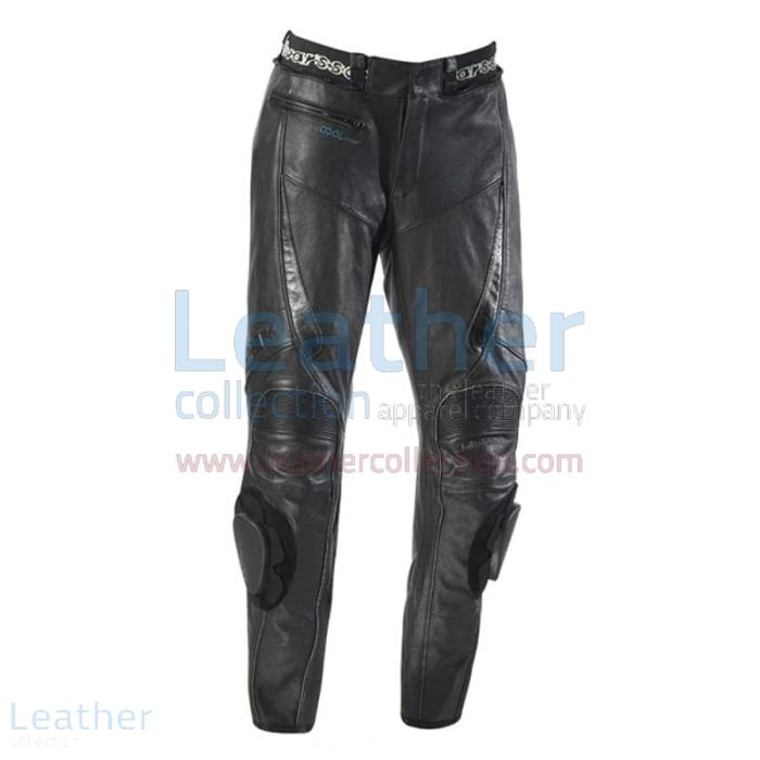 Leather Cool Motorcycle Pants front view