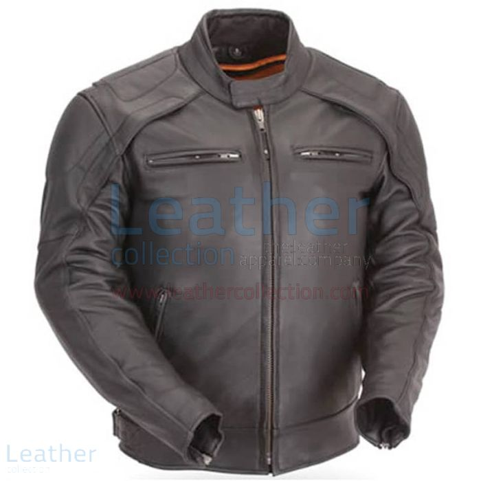 Motorcycle Reflective Piping & Vented Jacket Front View