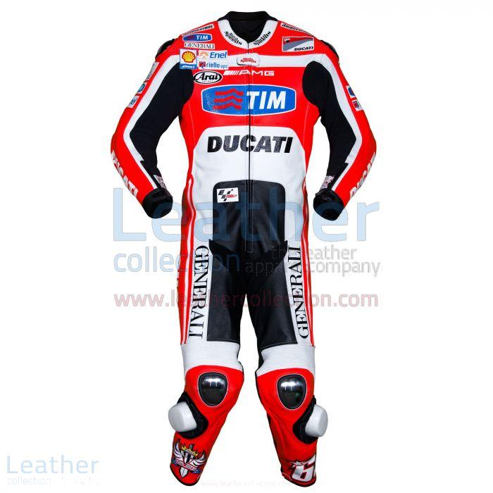 Nicky Hayden Ducati MotoGP 2011 Suit front view