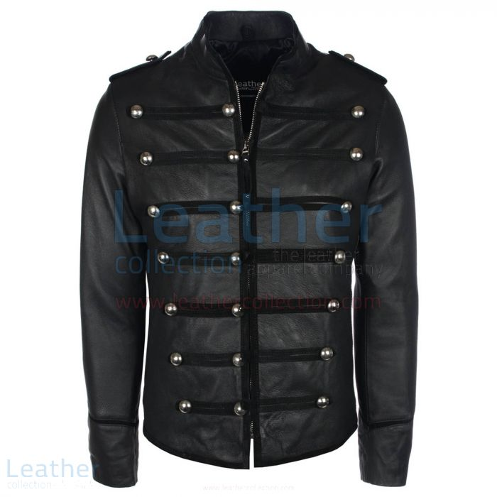 Prince Military Biker Jacket front view