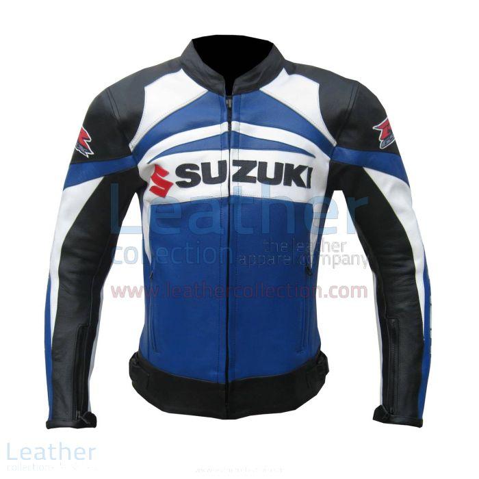 Suzuki GSXR Leather Jacket front view