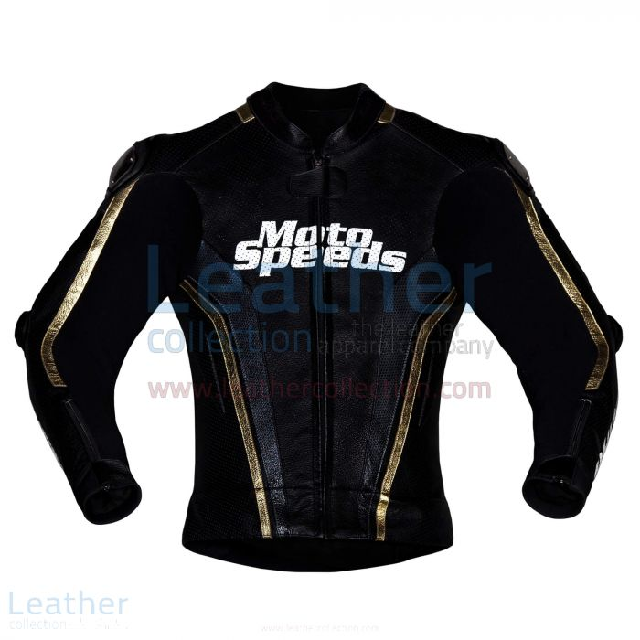 Whiz Tech Leather Motorcycle Jacket front view